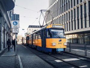 Bir leipzig tramwayi