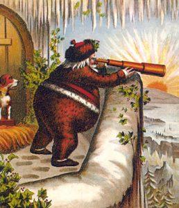 Thomas Nast tarafindan cizilen ilk kirmizi elbiseli Noel Baba