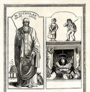 Eski bir Saint Nicholas cizimi-1810
