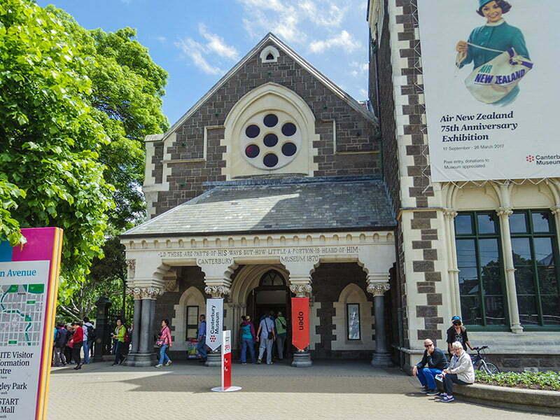 Canterbury Muzesi girisi - Christchurch