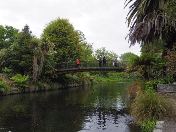 Christchurch Botanik Bahceleri - Avon Nehri