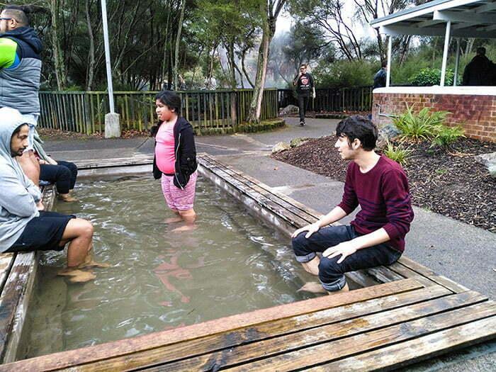 Termal ayak havuzlarından biri
