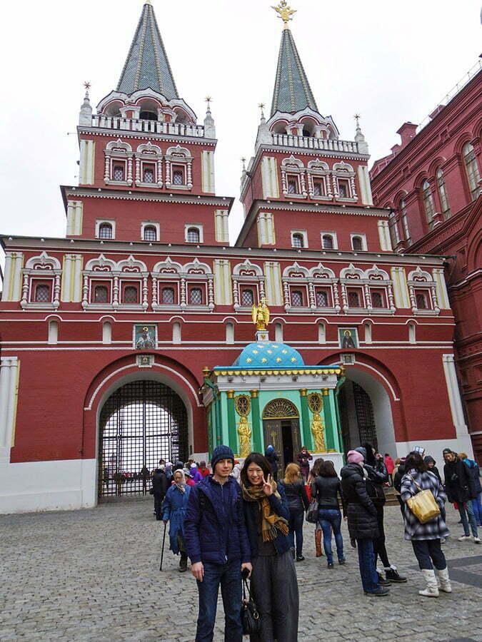 Kizil Meydan giris kapisi - Moskova