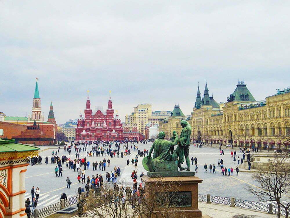 Moskova Kizil Meydan - Aziz Vasilis Katedrali