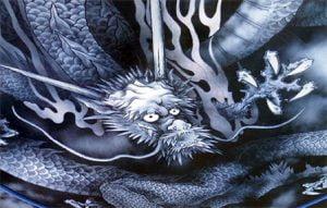 Hattonun tavanindaki ejderha - Tenryuji Tapinagi