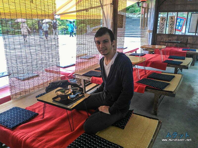 Kiyomizu dera cikistaki lokanta