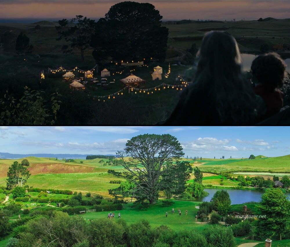 Gandalf ve Bilbo pipo içerken.