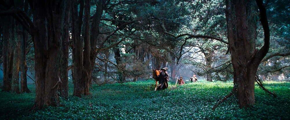 Gandalf ve hobbitler Shiredan ayrılırken.