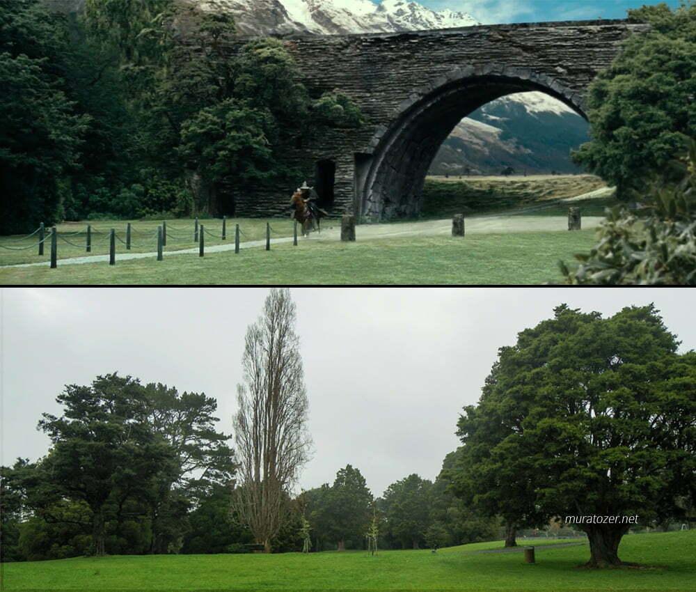 Gandalfın Isengarda giriş sahnesinin çekim yeri.