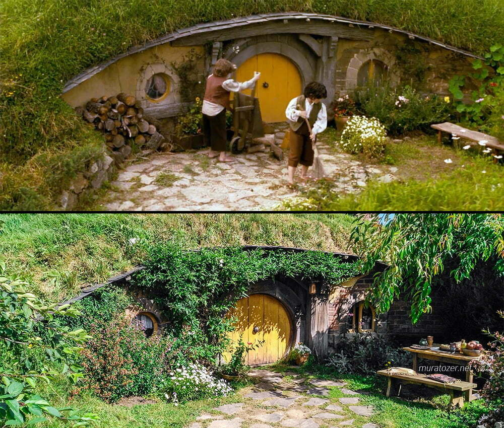 Yüzüklerin Efendisi filminde hobbit evi ve benim çektiğim ev.